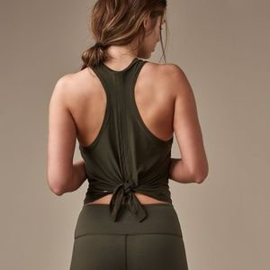 Lululemon Two with One Singlet - Dark Olive - sz 8